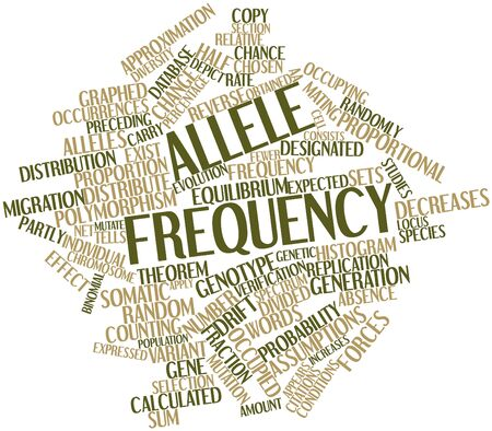 assumptions: Abstract word cloud for Allele frequency with related tags and terms