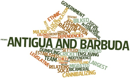 Abstract word cloud for Antigua and Barbuda with related tags and terms Stock Photo - 17020426
