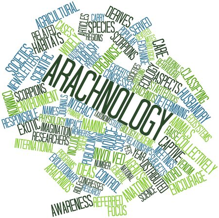 Abstract word cloud for Arachnology with related tags and terms Stock Photo - 17029549