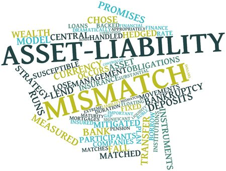 obligations: Abstract word cloud for Asset-liability mismatch with related tags and terms
