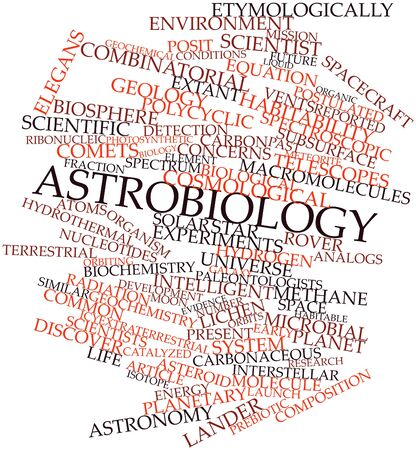 prebiotic: Abstract word cloud for Astrobiology with related tags and terms