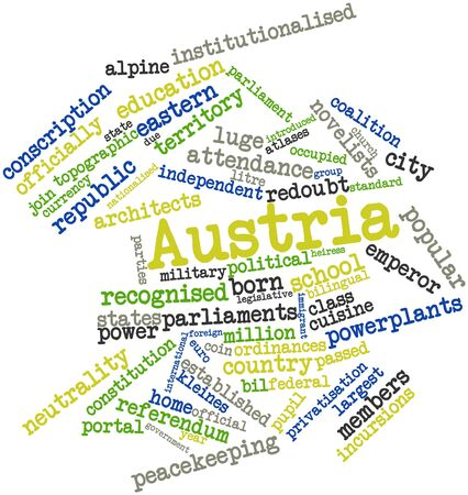 Abstract word cloud for Austria with related tags and terms Stock Photo - 17023661