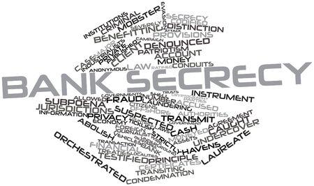 tratados: Nube palabra abstracta para el secreto bancario con las etiquetas y t�rminos relacionados