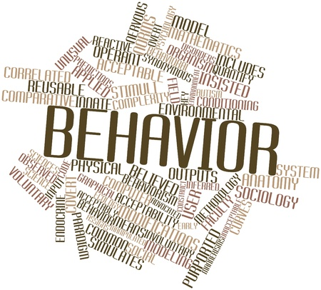 overt: Abstract word cloud for Behavior with related tags and terms Stock Photo
