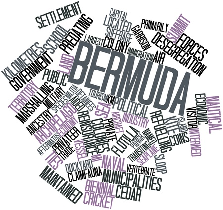 conscription: Abstract word cloud for Bermuda with related tags and terms