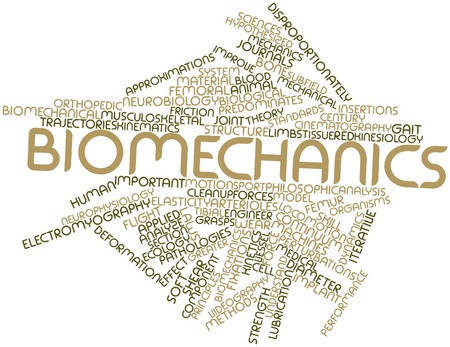 Abstract word cloud for Biomechanics with related tags and terms photo