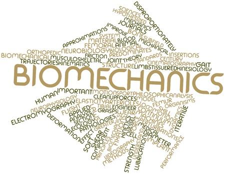 Abstrakte Wortwolke für Biomechanik mit verwandten Tags und Begriffe