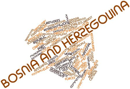Abstract word cloud for Bosnia and Herzegovina with related tags and terms Stock Photo - 17020783