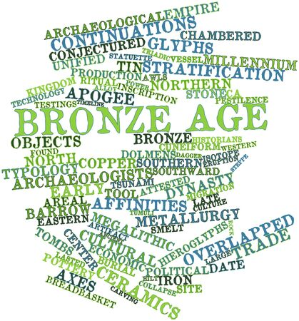 statuette: Abstract word cloud for Bronze Age with related tags and terms