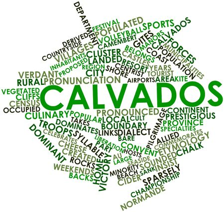 dialect: Abstract word cloud for Calvados with related tags and terms