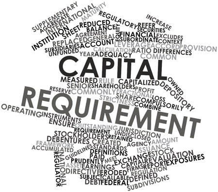 requirement: Abstract word cloud for Capital requirement with related tags and terms Stock Photo