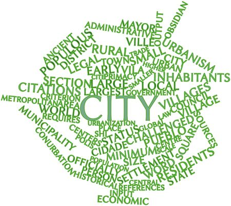 pueblo: Abstract word cloud for City with related tags and terms