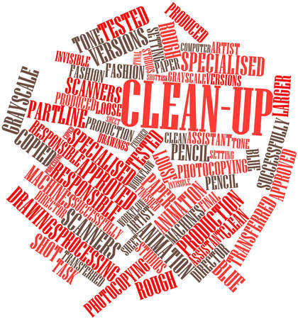 transferred: Abstract word cloud for Clean-up with related tags and terms