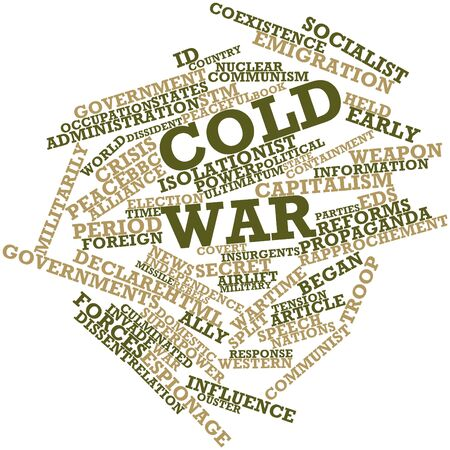 wartime: Abstract word cloud for Cold War with related tags and terms