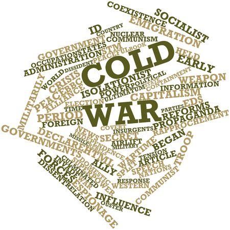 historians: Word cloud astratto per Guerra Fredda con tag e termini correlati Archivio Fotografico