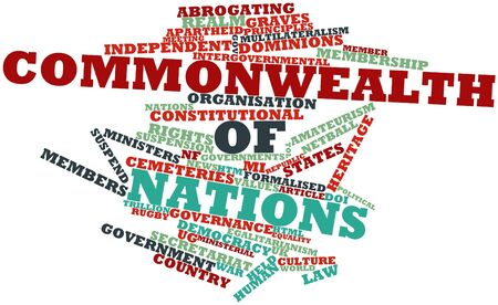 Abstract word cloud for Commonwealth of Nations with related tags and terms Stock Photo - 17020453