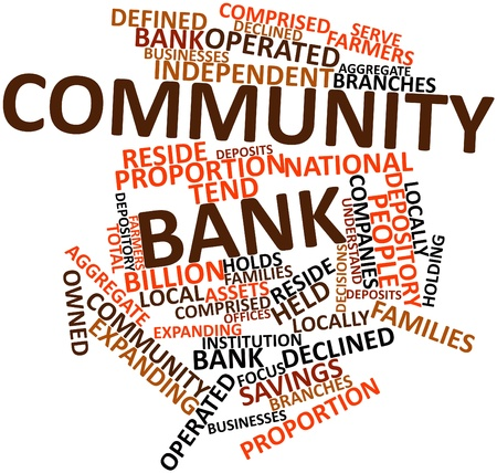 bank branch: Abstract word cloud for Community bank with related tags and terms