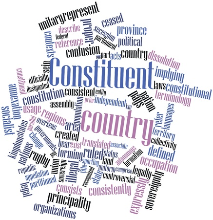 Abstract word cloud for Constituent country with related tags and terms Stock Photo - 17024573