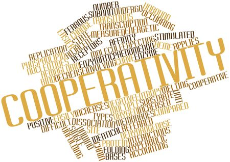 Abstract word cloud for Cooperativity with related tags and terms Stock Photo - 17023290