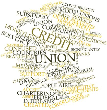 Abstract word cloud for Credit union with related tags and terms Stock Photo - 17029438