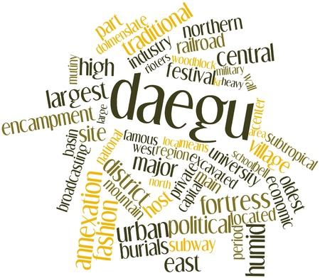 polity: Abstract word cloud for Daegu with related tags and terms