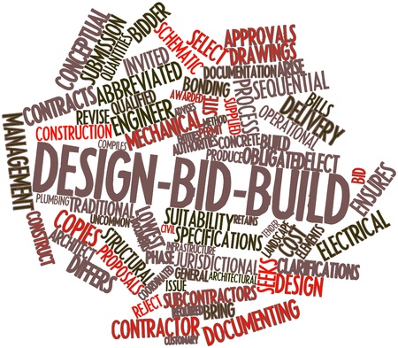 awarded: Abstract word cloud for Design-bid-build with related tags and terms