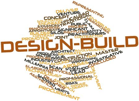 investigative: Abstract word cloud for Design-build with related tags and terms