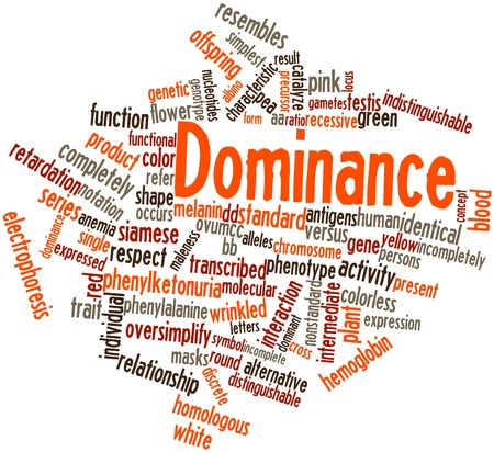Abstract word cloud for Dominance with related tags and terms Stock Photo - 17024326