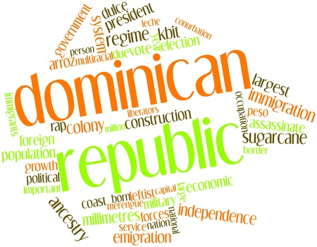 repression: Abstract word cloud for Dominican Republic with related tags and terms Stock Photo