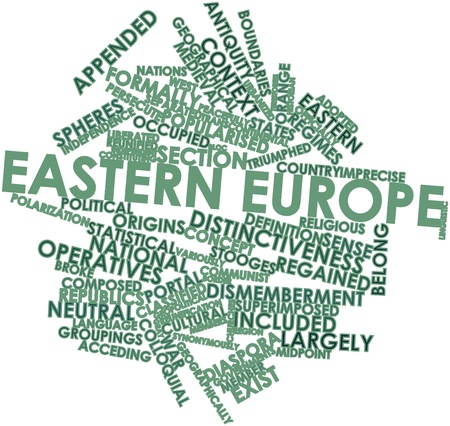 constituting: Abstract word cloud for Eastern Europe with related tags and terms