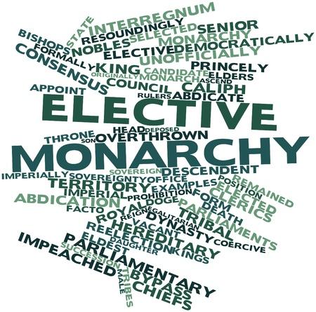 parliaments: Word cloud astratto per monarchia elettiva con tag correlati e termini