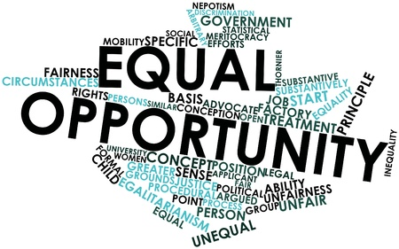 Abstract word cloud for Equal opportunity with related tags and terms Stock Photo - 17020432