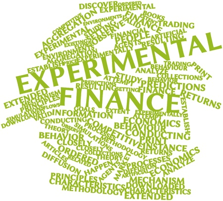 Abstract word cloud for Experimental finance with related tags and terms Stock Photo - 17024001