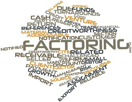 Abstract word cloud for Factoring with related tags and terms