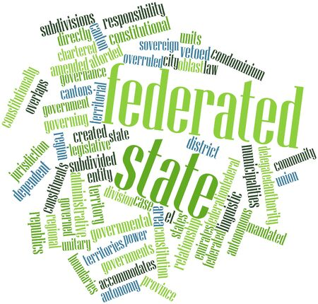 Abstract word cloud for Federated state with related tags and terms Stock Photo - 17024449