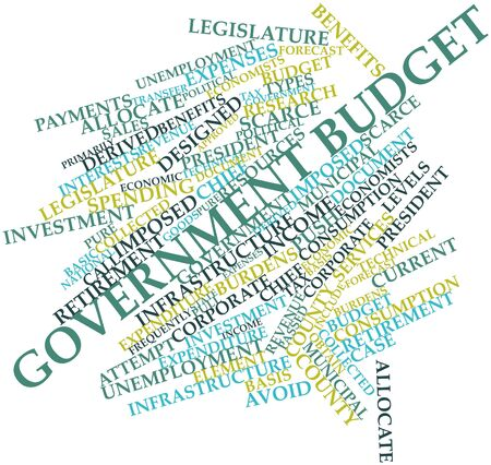 Abstract word cloud for Government budget with related tags and terms Stock Photo - 17030049