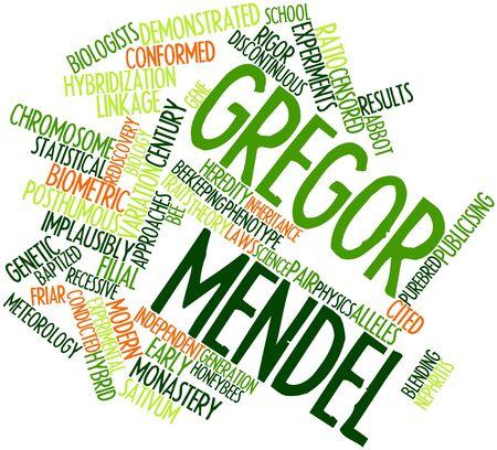 関連するタグと用語 Gregor Mendel の抽象的な単語雲