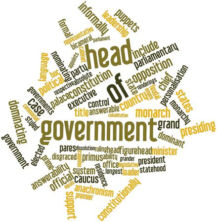 Abstract word cloud for Head of government with related tags and terms Stock Photo - 17024444