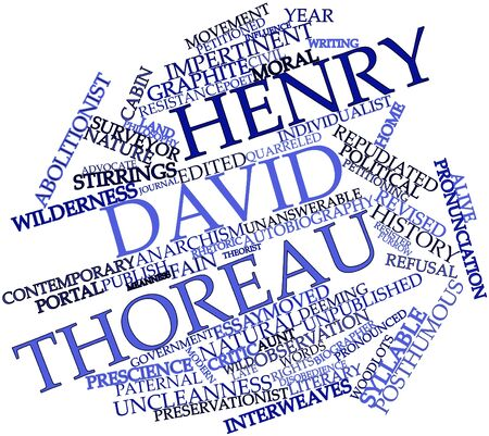 nonviolent: Abstract word cloud for Henry David Thoreau with related tags and terms