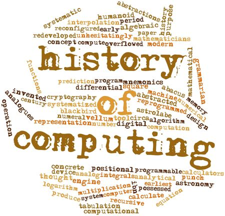 tabulation: Abstract word cloud for History of computing with related tags and terms