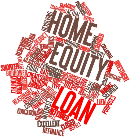 Abstrakte Wortwolke für Home-Equity-Darlehen mit verwandten Tags und Begriffe