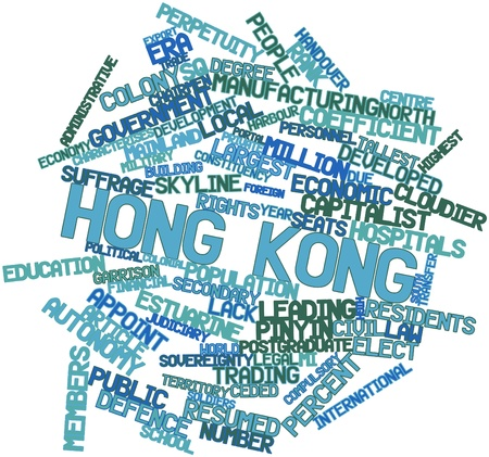 Abstract word cloud for Hong Kong with related tags and terms Stock Photo - 17029436