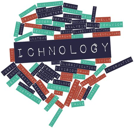bodily: Abstract word cloud for Ichnology with related tags and terms