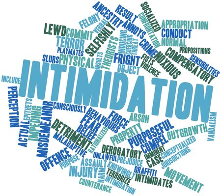 requisite: Abstract word cloud for Intimidation with related tags and terms