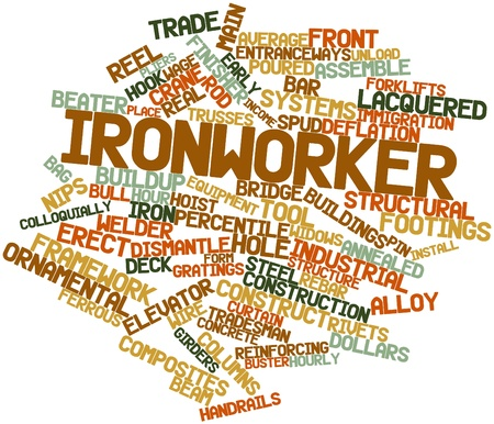 Abstract word cloud for Ironworker with related tags and terms Stock Photo - 17024005