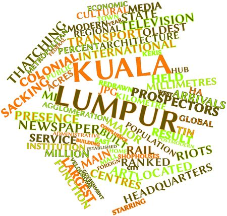 Abstract word cloud for Kuala Lumpur with related tags and terms Stock fotó