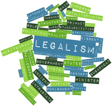 populace: Abstract word cloud for Legalism with related tags and terms