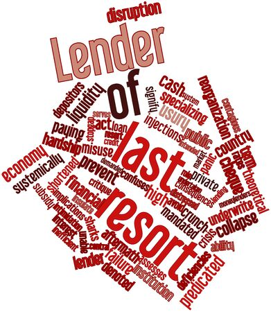denoted: Abstract word cloud for Lender of last resort with related tags and terms