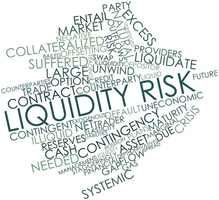 contingency: Abstract word cloud for Liquidity risk with related tags and terms