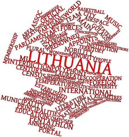 Abstract word cloud for Lithuania with related tags and terms Stock Photo - 17029546